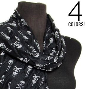 Accessories - Skulls & Bones Scrunch Scarf
